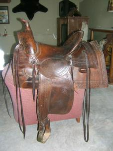 Antique Frazier Highback saddle